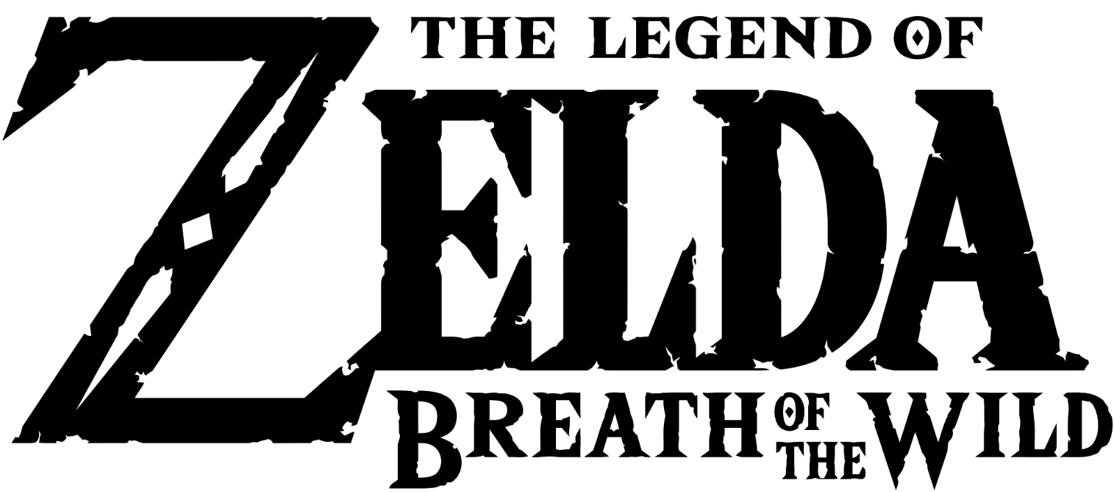 The logo for the video game, The Legend of Zelda Breath of the Wild