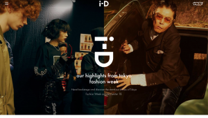 i-D's magazine homepage
