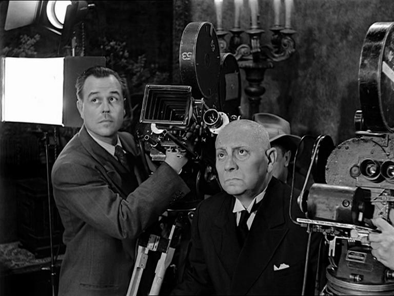 """Erich von Stroheim as Max in """"Sunset Boulevard"""" directing the cameramen"""