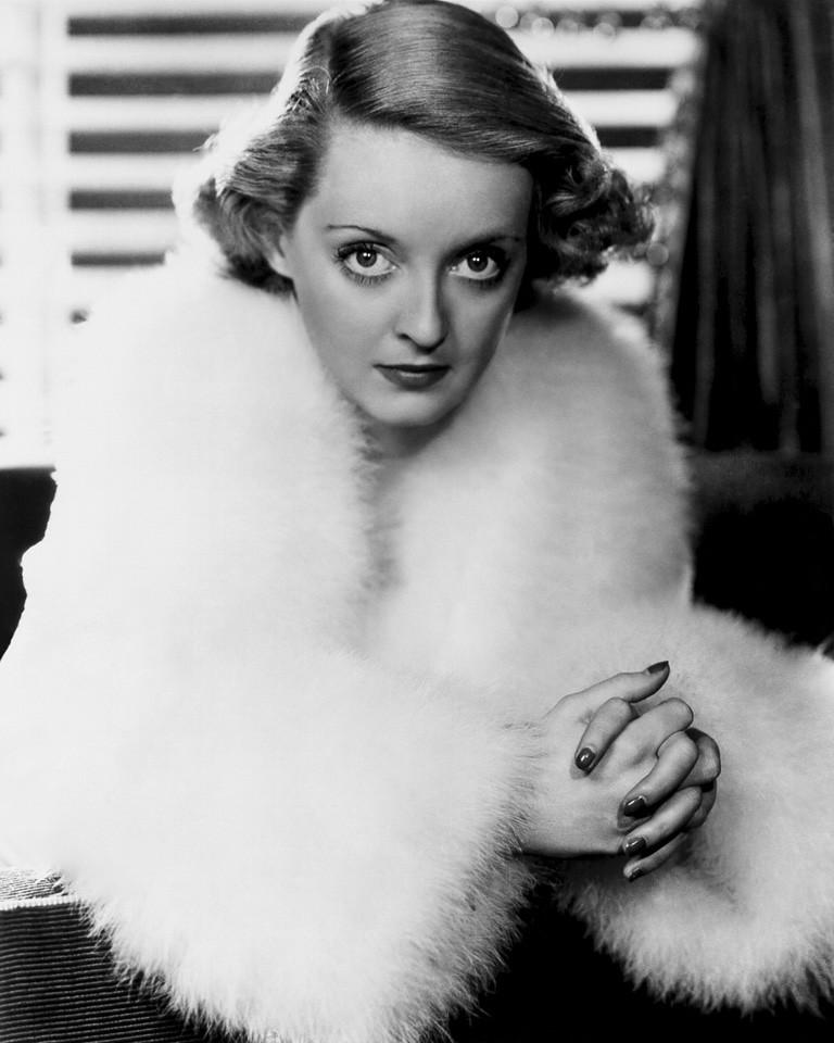 A promotional portrait of Bette Davis